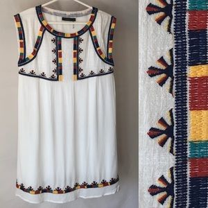 THML Embroidered Shift Dress